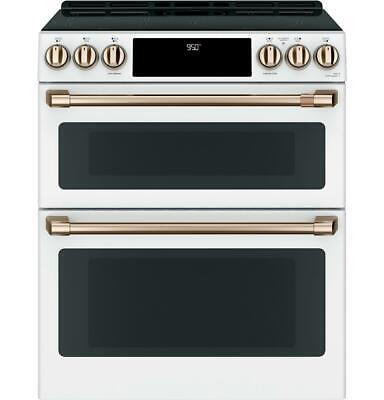 "GE Cafe CHS950P4MW2 30"" Smart Matte White Induction and Convection Range"