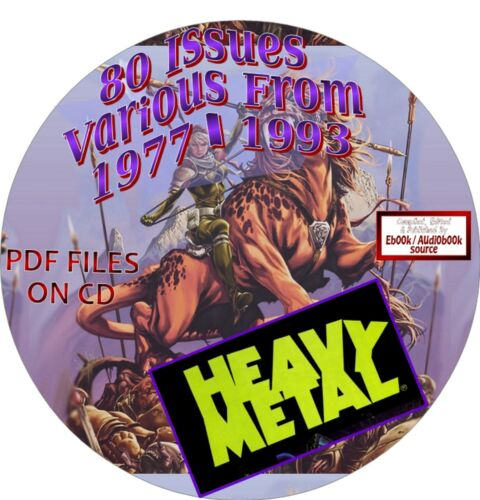HEAVY METAL MAGAZINE - 80 ISSUES - DATES FROM 1977 - 1993 - PDF FILES ON CD