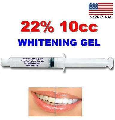 - Professional 22% SYRINGE TOOTH  WHITENER  TEETH  WHITENING GEL 10cc= 40_apps