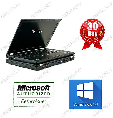 "Lenovo Thinkpad T410S TouchScreen i5 2.6GHz 8G 128G SSD Webcam DVDRW W10H 14""W"