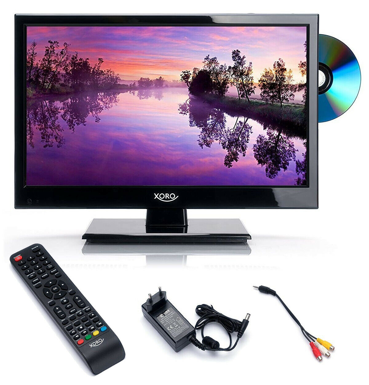 Wohnmobil Camping Fernseher LED TV mit DVD 15 Zoll LCD DVB S2 T2 C 12 V 230 Volt