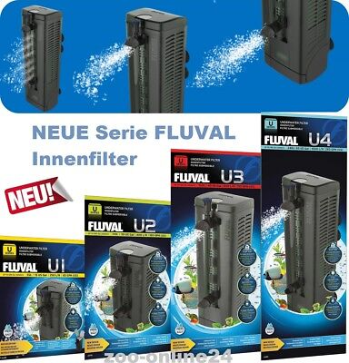 Fluval-Aquarium-Bio-Innen-Filter U1:U2:U3:U4 für Aquarien 30-240 Liter