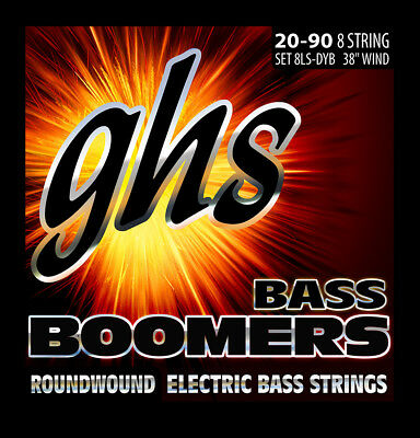 GHS 8LS-DYB BASS BOOMERS - 8-STRING SET  - EXTRA LONG SCALE Extra Long Scale