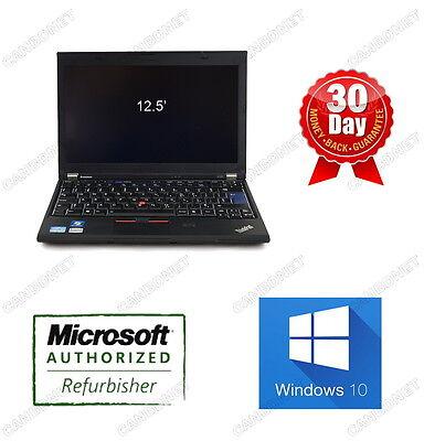 Lenovo Thinkpad X220 Laptop i5 2.6GHz 4G 320G Webcam 12'' W10P WiFi 90d Warranty