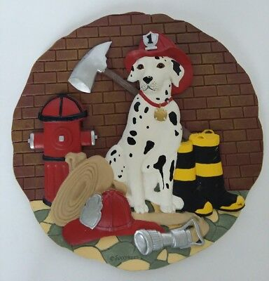 Spoontiques Firefighter Dog 3D Wall Hanging Man Cave Dalmation Stepping Stone