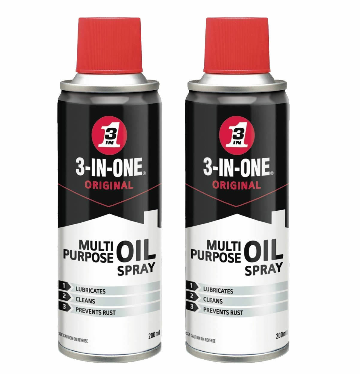 2 x 3 IN ONE MULTIPURPOSE USE LUBRICANT LUBRICATION PENERTRATING OIL SPRAY 200ml