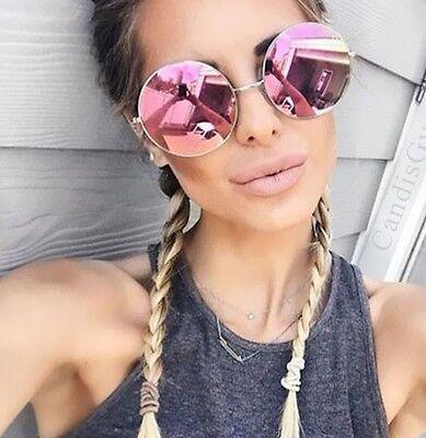 Oversized Round Circle Frame Mirror Sunglasses Purple Super Women Cheap Beach - Purple Sunglasses Cheap