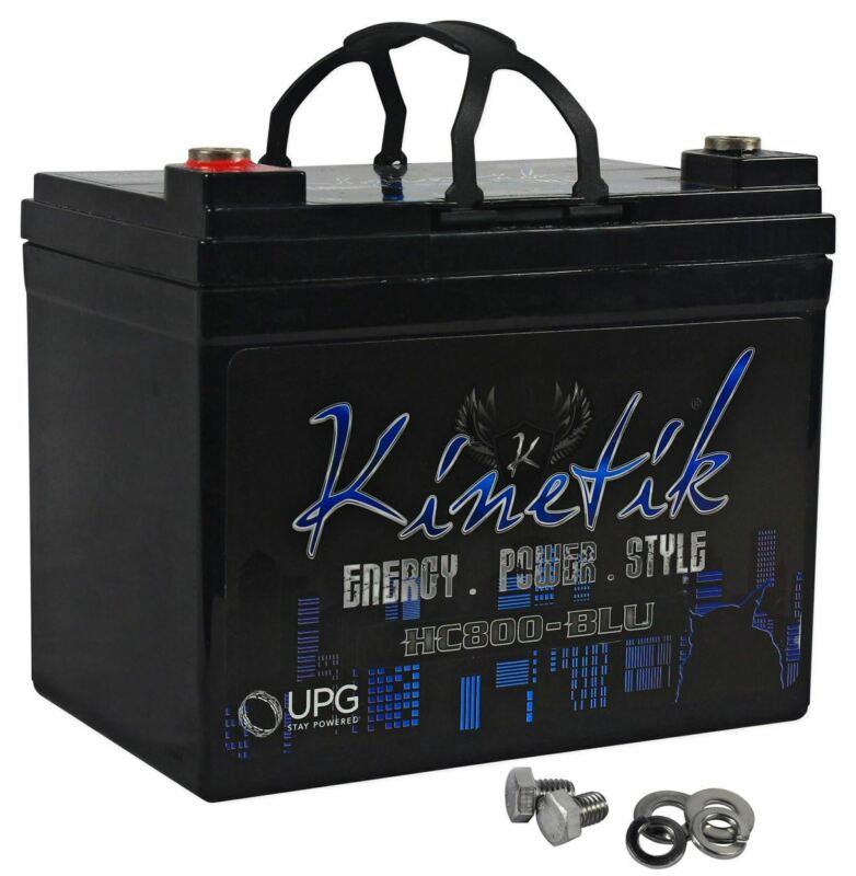 Kinetik HC800-BLU 800 Watt Car Audio Blue Battery/Power Cell System HC800 AGM