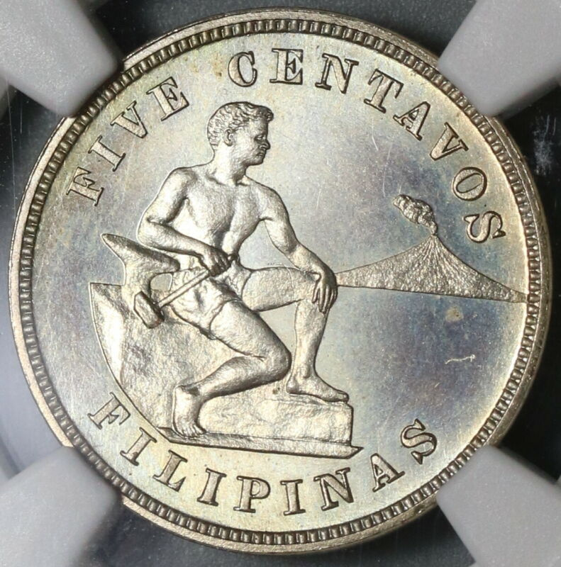 1903 NGC PF 65 Philippines 5 Centavos Gem Proof USA Coin (19100601D)