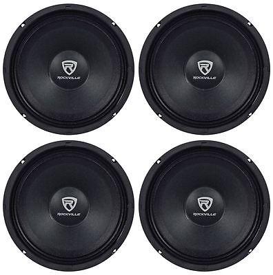 4  Rockville Rm88pro 8  8 Ohm 1200 Watt Spl Midrange Mid Bass Car Speakers