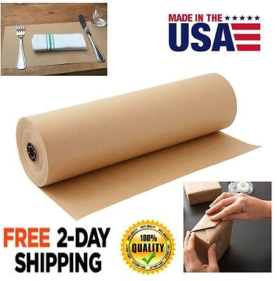 "Kraft Paper Roll 1800"" L x 30"" W Sheet Packaging Wrap Packing Shipping Mailing"