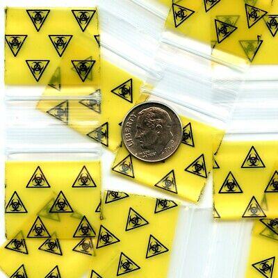 100 Biohazard 3 Mil Apple Baggies 1 X 1 Mini Ziplock Bags 1010