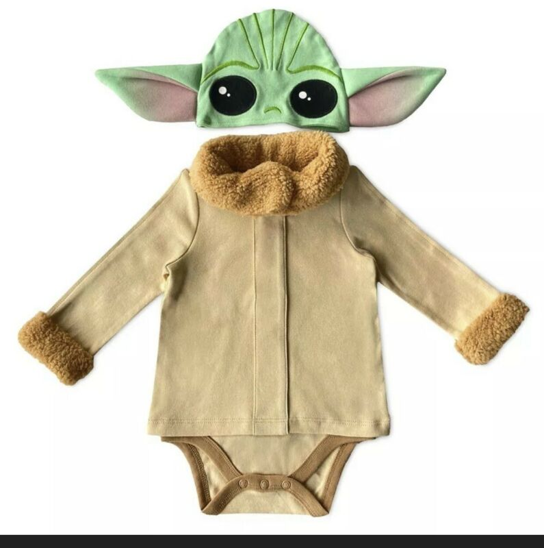 Disney Star Wars The Child Baby Yoda Bodysuit Costume  3,6/9,9/12,12/18,18/24