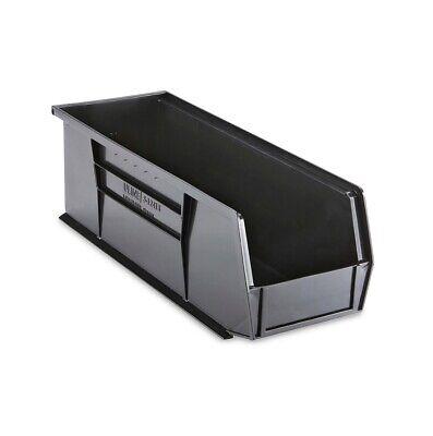 Black Stackable Storage Bin 15l X 5-12w X 5h - Lot Of 12 S-12418bl