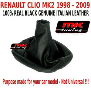RENAULT CLIO MK2 STORIA 1998-09 HATCHBACK GEAR STICK COVER GAITER LEATHER