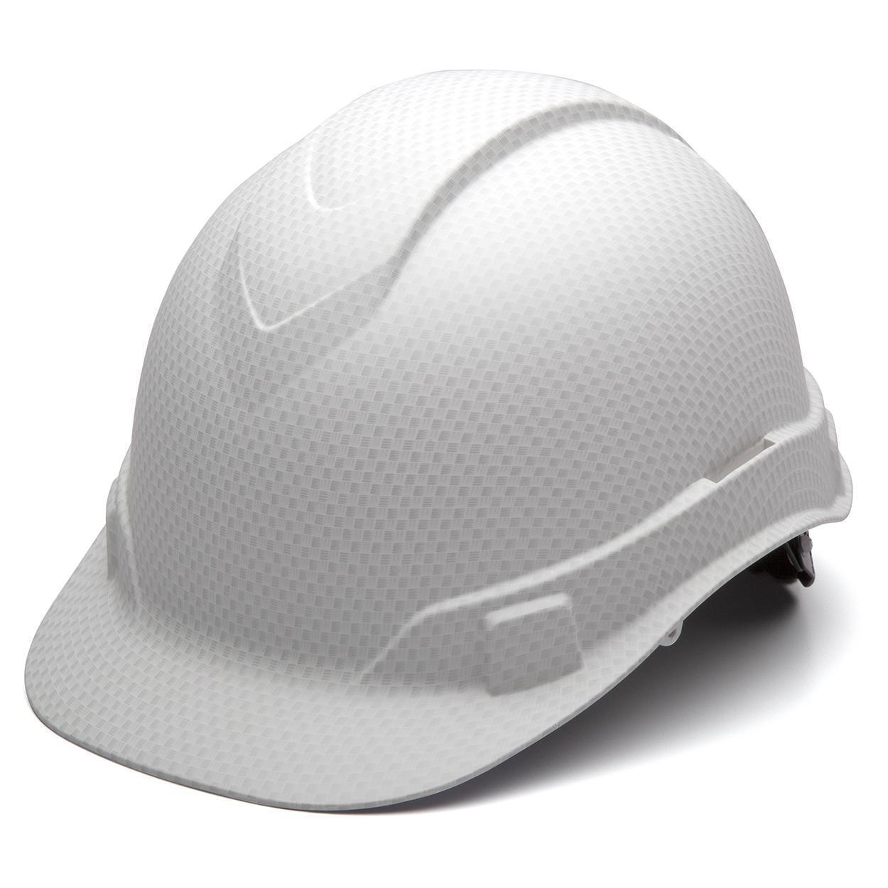 Pyramex HP44116 Ridgeline Graphite Cap Style White Hard Hat W/4 Pt Ratchet Susp Business & Industrial