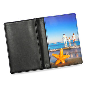 Personalised Passport Holder PU Leather Flip Case Cover Custom Create Your Own