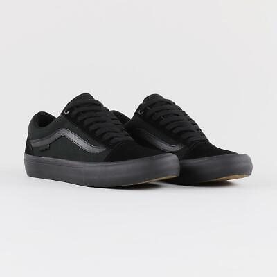 Vans Pro Skate Men's Old Skool Trainer Skateboarding Shoes Blackout All Black