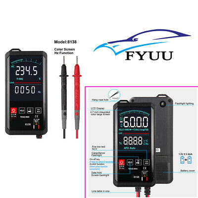 8138 Touch Screen Digital Multimeter 6000counts Acdc True Rms Tester Small Size