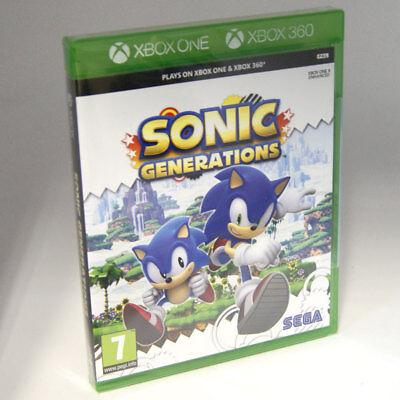 Sonic Generations XBox One / Xbox 360 - 7+ Kids Game BRAND NEW  & SEALED UK PAL