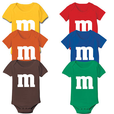 M & CANDY Halloween Costume Funny Group Party cute newborn gift Baby One Piece