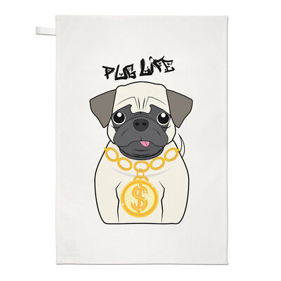 Pug Life Hund Geschirrtuch Spüllappen - Welpe Lustig