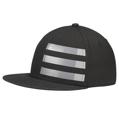 Adidas Youth 3-Stripe Adjustable Snap Back Golf Hat,  Black/Silver