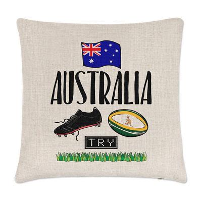 Rugby Australia Lino Copricuscino Cuscino Divertente Lega Bandiera Inglese Sport