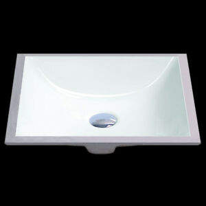Square undermount sink ebay for Small square undermount bathroom sink