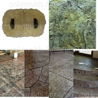 Polyurethane Stamp Mat Stone Texture Rock Decorative Printed Concrete Cement