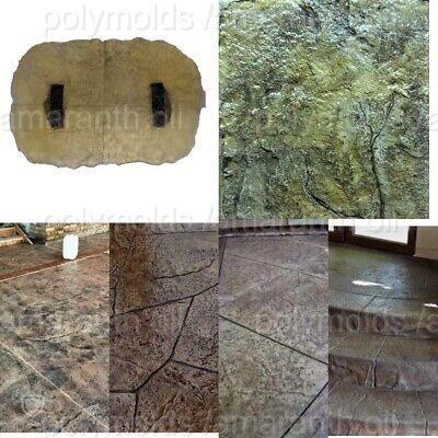 Polyurethane Stamp Mat Stone Texture Rock Decorative Printed Concrete Cement