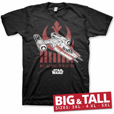 Officially Licensed Star Wars IX - The Force BIG&TALL 3XL,4XL,5XL Men's T-Shirt