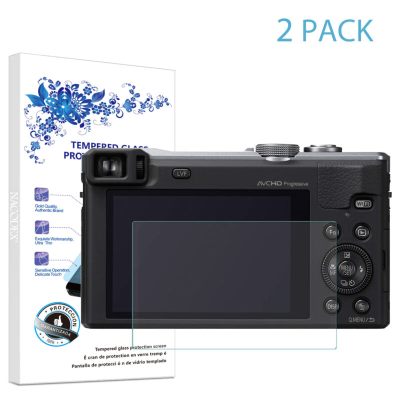 2-Pack For Panasonic ZS40 TZ60 Tempered Glass Screen Protector