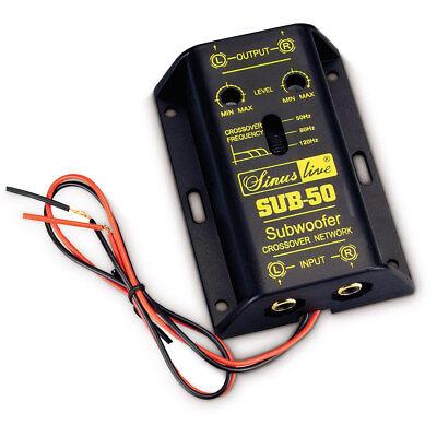 Sinuslive aktive Subwooferweiche Frequenzweiche Weiche Bass Auto SUB-50