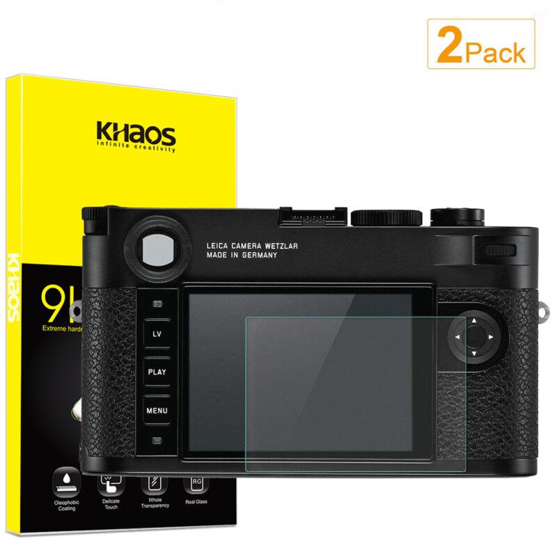 2-Pack Khaos For Leica M10-P / Leica Q2 Camera Tempered Glass Screen Protector