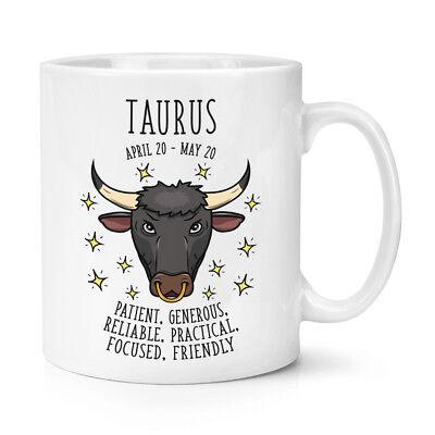 Taurus Horoscope 10oz Mug Cup - Horoscope Star Sign Astrology Zodiac Birthday