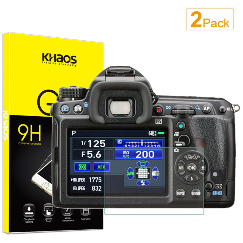 2-Pack Khaos For PENTAX K-3 K-3II Tempered Glass Screen Protector