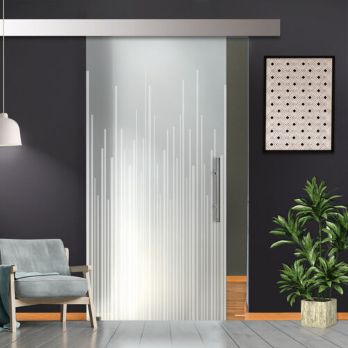 """36"""" x 81"""" Sliding Frosted Glass Barn Door Full-Private 30% OFF"""