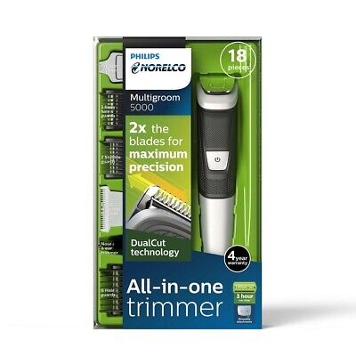 BRAND NEW Philips Norelco Multigroom All-In-One Trimmer Series 5000 With 18Pie