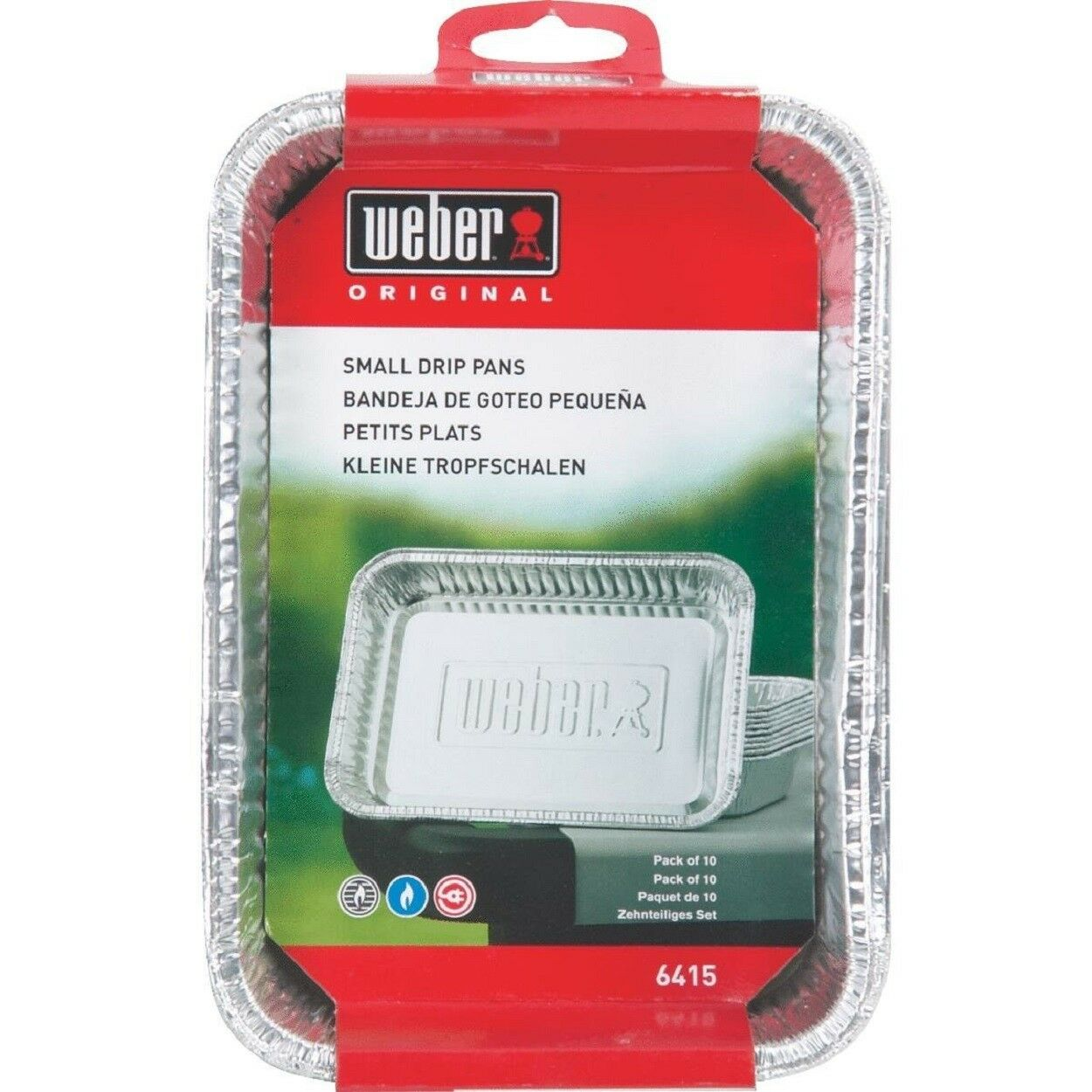 Weber Small Drip Pans Aluminum BBQ Grill Grease Catch  7.5 x