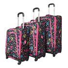 Rockland Zebra Print Suitcases