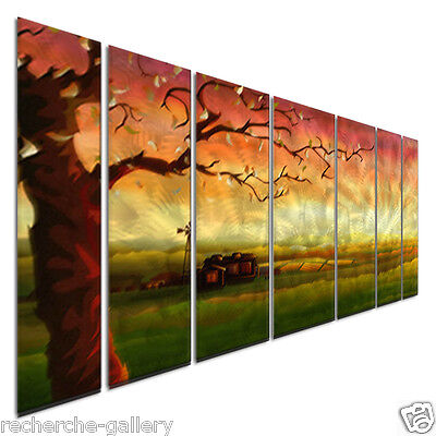 Abstract Painting On Metal Wall Art By Artist Ash Carl Unique Modern Home D Cor