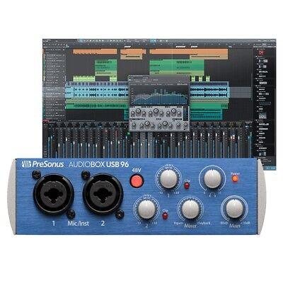 PreSonus AudioBox USB 96 2-Channel USB Audio Interface With Studio One V3 Artist