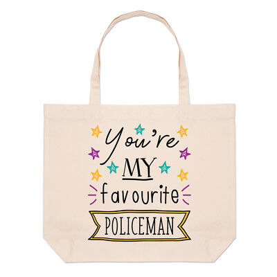 You're My Favourite Policeman Stars Large Beach Tote Bag - Police (Best Police Patrol Bag)
