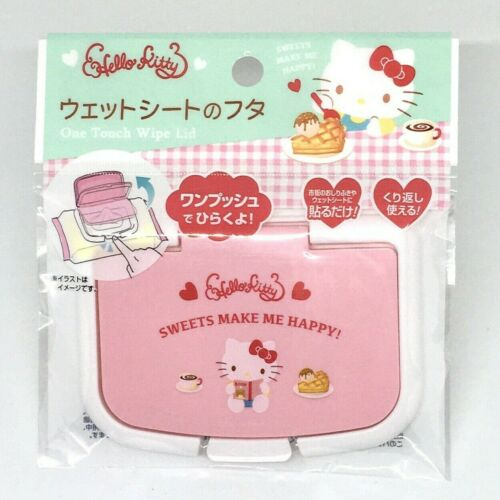 HELLO KITTY Lid for Wet Wipes Pack DAISO One touch Easy to Open Close from Japan