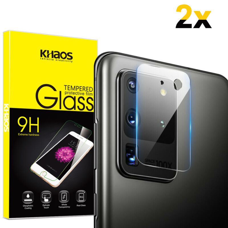 2-Pack Khaos For Samsung S20 Ultra Camera Lens Tempered Glass Screen Protector
