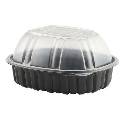 Anchor Packaging Large Vented Chicken Combo Pack Black w/ Clear Lid, 170 of (Lid Combo Pack)