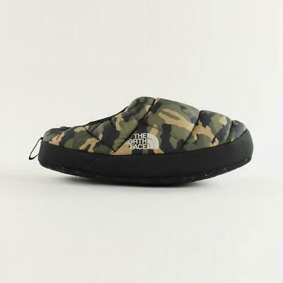 The North Face Men's Nuptse Tent Mules III Insulated Slippers Green Camo Black