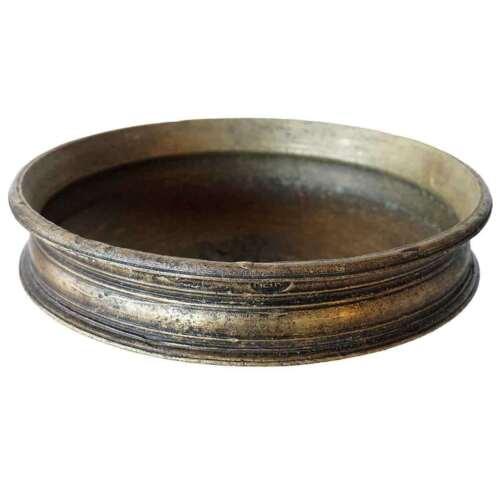 Antique South Indian Solid Bronze Cooking Vessel (Urli)