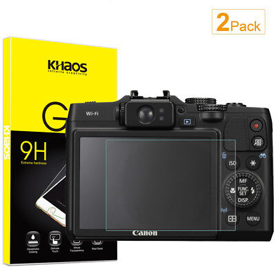 2-Pack Khaos For Canon G15 G16 S100  Tempered Glass Screen Protector